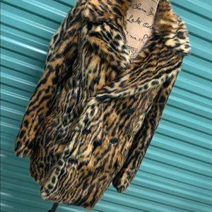 Ralph Lauren leopard print fur coat